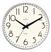 Acctim Earl Retro Wall Clock 25cm - Chrome